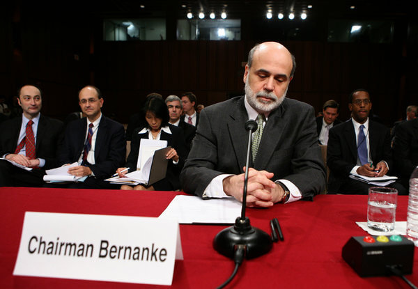 The Fed chairman, Ben S. Bernanke, testified to Congress in November 2007 about the subprime mortgage crisis. Credit Doug Mills/The New York Times