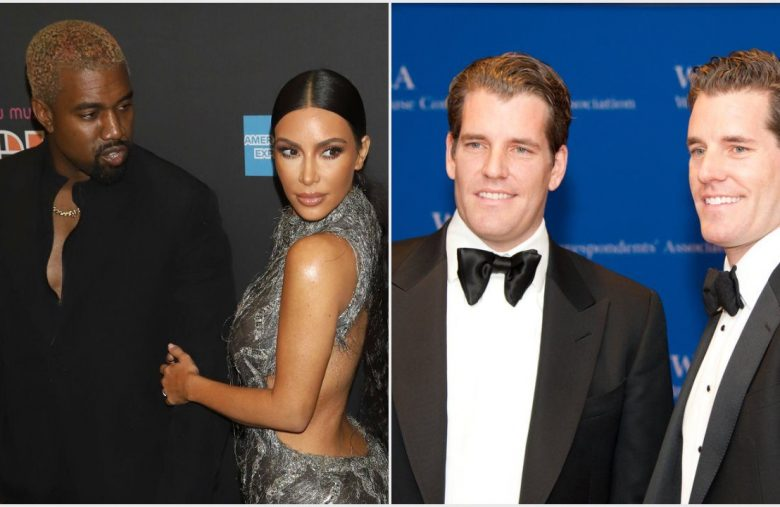 Winklevoss' Gemini Photo Bombs Kardashian-West at Met Gala After Party