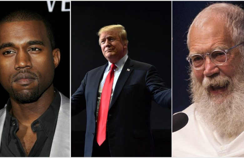 Kanye West Defends 'Enemy of America' Trump Fans to David Letterman