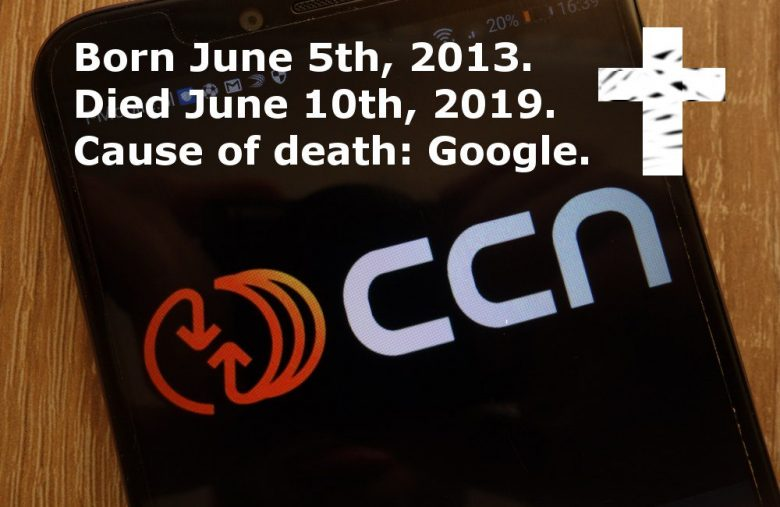 CCN is Shutting Down after Google's June 2019 Core Update