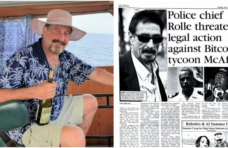 Bitcoin Agitator John McAfee Runs Afoul of Bahamas Anti-Corruption Czar