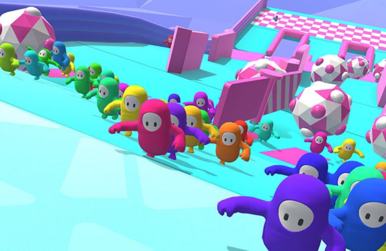 'Fall Guys' is a mini-game battle royale with up to 100 jelly-bean dudes