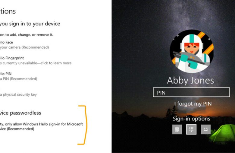 Windows 10 preview tests password-free sign-ins