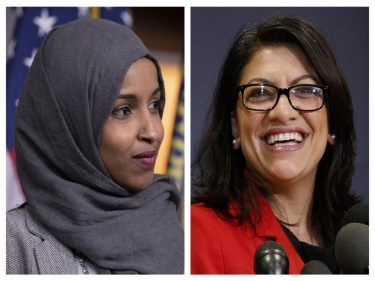 Ilhan Omar, Rashida Tlaib Introduce Bill Supporting Antisemitic BDS after Condemning Trump as 'Racist'