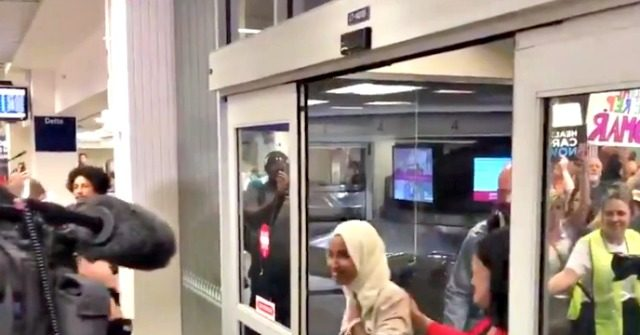 Omar Receives Rock Star's Welcome Upon Arrival at Minnesota Airport: 'Welcome Home Ilhan'