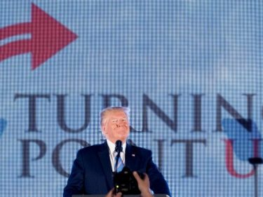 Trump to TPUSA Crowd: Job Market Is 'Thriving' for Young Americans