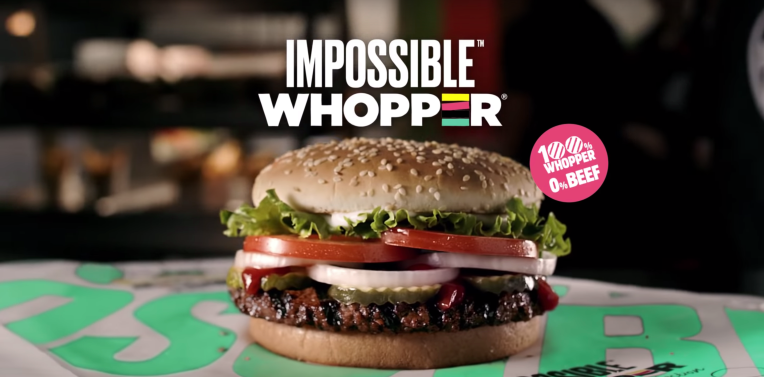 For the next month, the Impossible Whopper will be available at Burger Kings across the country