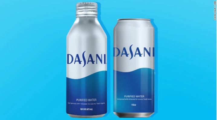 Aluminum packaging is coming for your water as Coca-Cola's Dasani brand takes the plunge