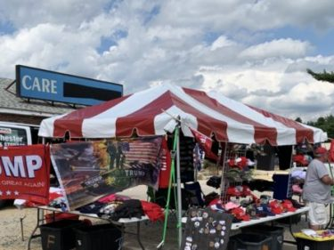Vendors Set up Shop 17 Miles from Trump Rally in New Hampshire