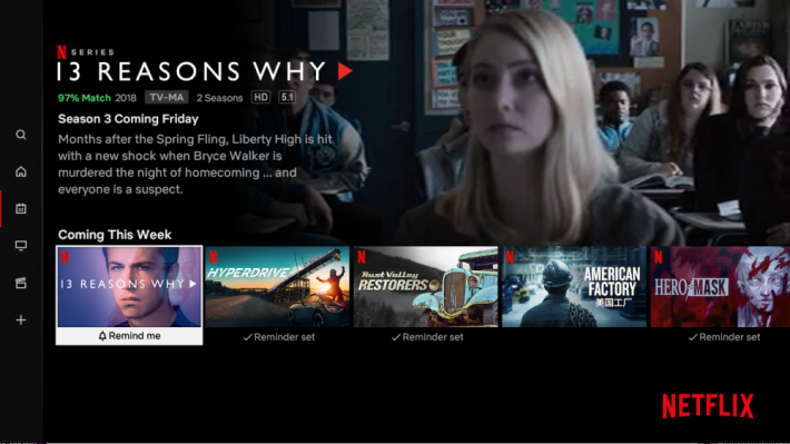 Netflix aims to retain subscribers with launch of a feature to track new releases