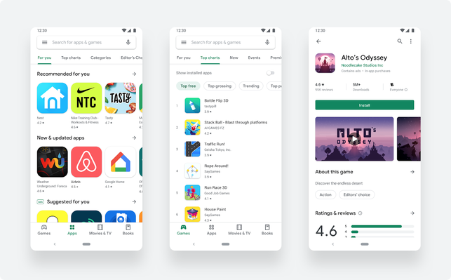 Google updates to a cleaner, simpler Play Store design with no Music section