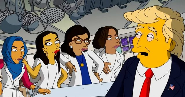 The Squad Torment Trump in 'Simpsons' Video: 'We're More American Than Your Wife'