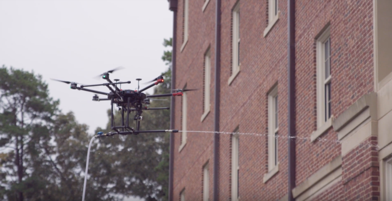 Lucid's drone is built to clean the outside of your house or office