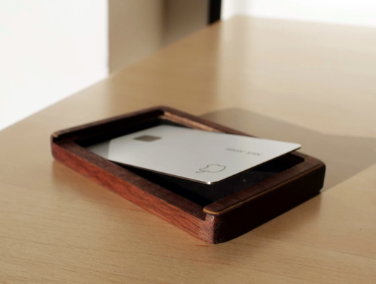 …or you can always buy a $40 wood case for your Apple Card