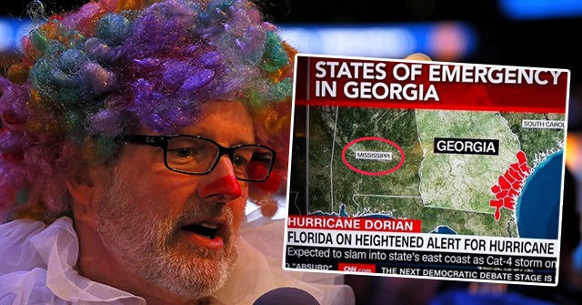 CNN Map Mislabels Alabama as Mississippi in Hurricane Dorian Coverage