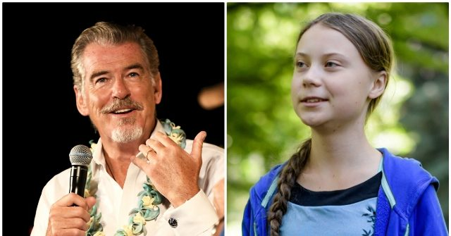 Pierce Brosnan Slams Trump and Praises Teen Climate Change Activist Greta Thunberg