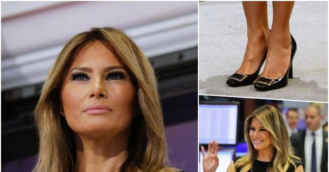 Fashion Notes: Melania Trump Returns to Manhattan in French Buckle Pumps