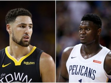 Klay Thompson Trails 'Hype Bubble' Zion Williamson in ESPN Rankings