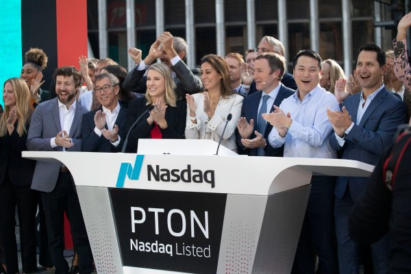 'We are seeing volume and interest in Peloton explode,' says company president on listing day