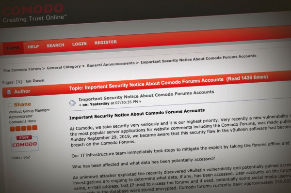Cybersecurity giant Comodo can't even keep its own website secure