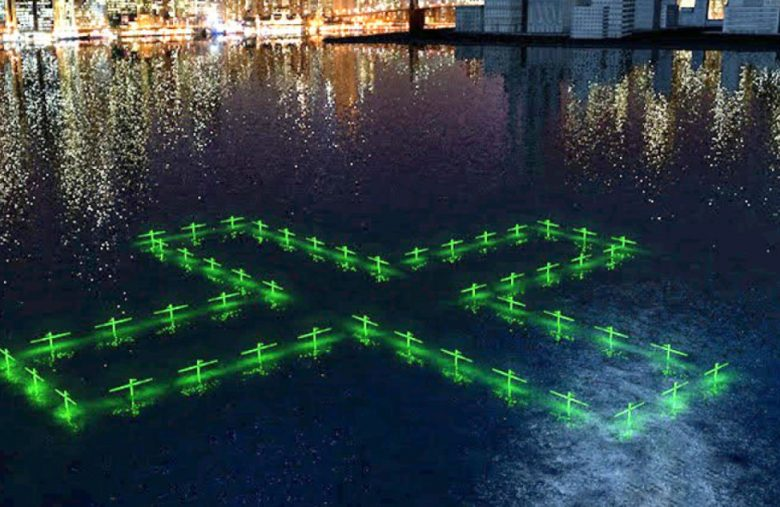 Floating LED art illustrates the quality of NYC's water