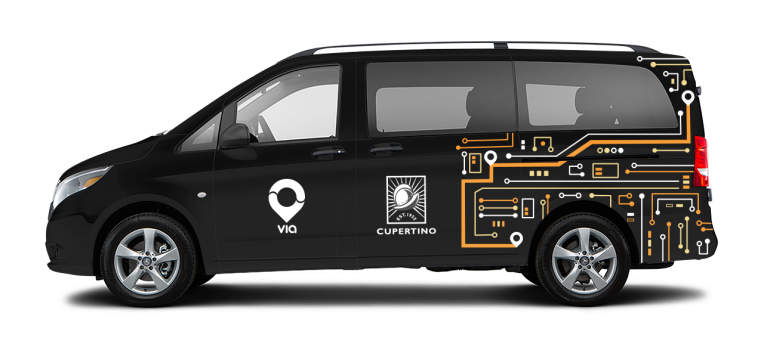 Via is launching an on-demand public transit network in the city of Cupertino