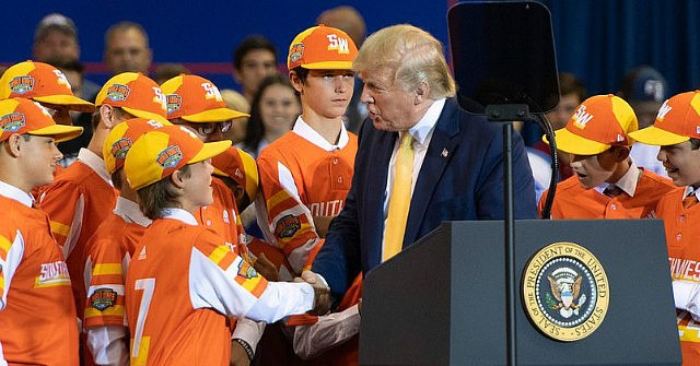Trump Introduces Little League World Series Champs at Rally