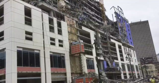 1 Dead, 3 Missing after Hotel Collapse in New Orleans