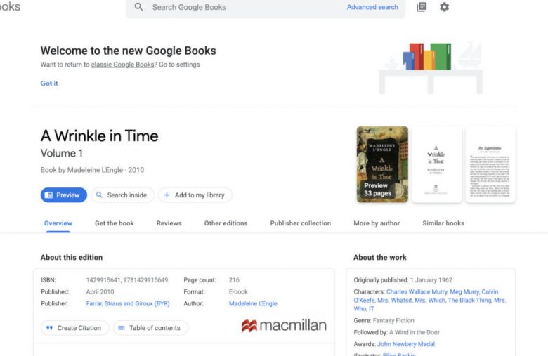 Google Books redesign makes it easier to find background info