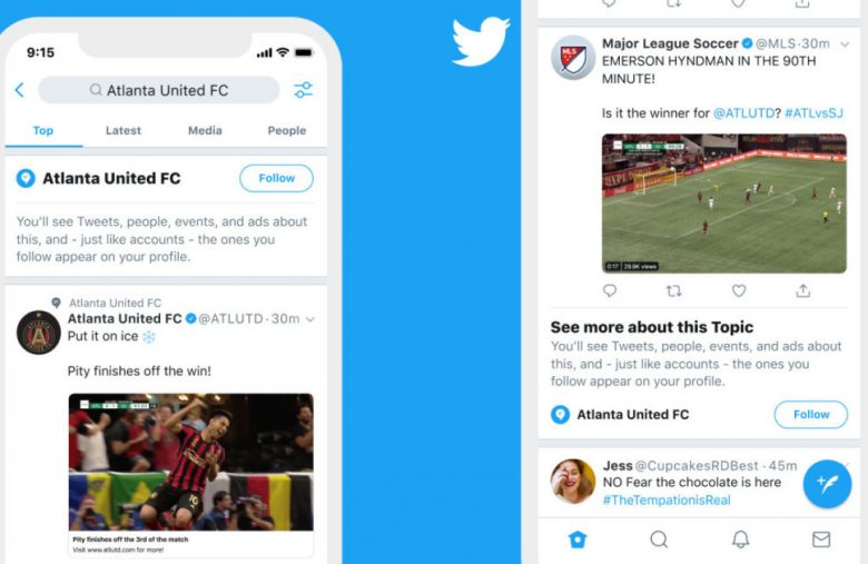 Twitter makes it easier to follow things you like