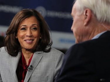Watch: Kamala Harris Mistakenly Says 'Fags' in Post-Debate Interview