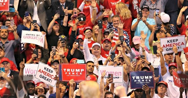 """Supporters chanted """"bullsh*t"""" after the president denounced impeachment"""