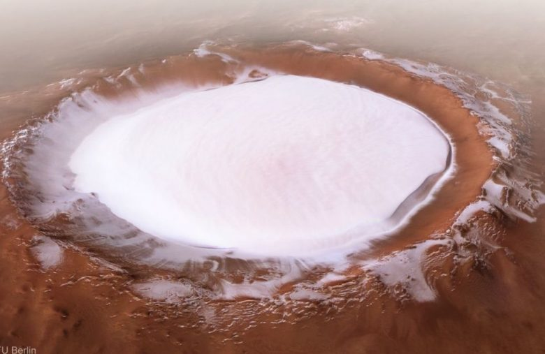 NASA finds water ice just below the surface of Mars