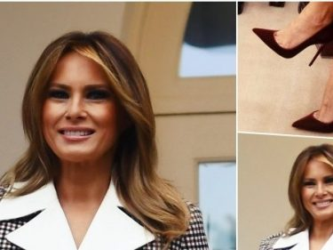 Fashion Notes: Melania Trump Is Lush for Winter in Red Velvet Louboutins
