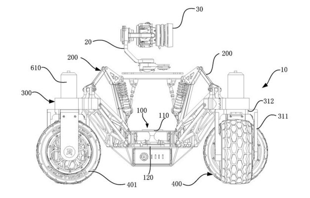 DJI patents an off-road rover with a stabilized camera on top