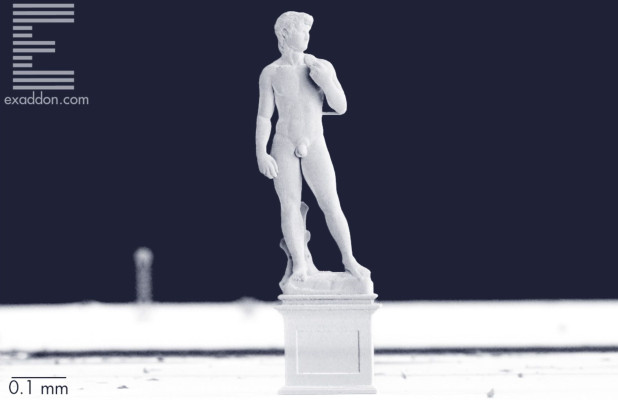 Micro-angelo? This 3D-printed 'David' is just one millimeter tall