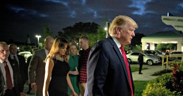 Trumps Attend Church Service in West Palm Beach on Christmas Eve