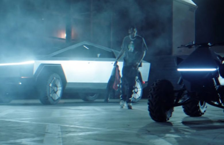 Tesla's Cybertruck found its way into a Travis Scott music video
