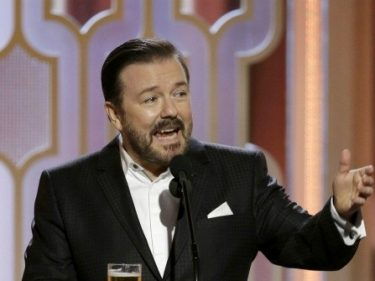 Ricky Gervais at Golden Globes: You're All Perverts