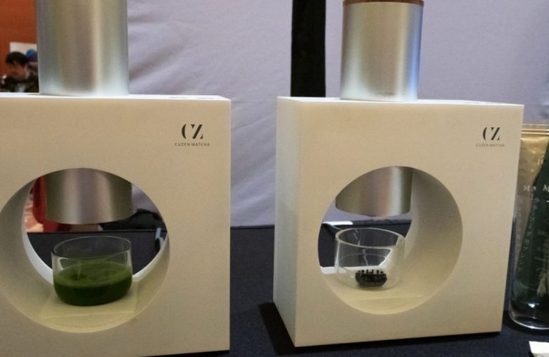 Cuzen uses magnets to brew you a fresh matcha in seconds