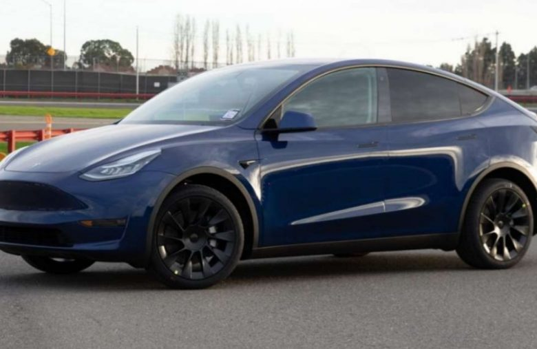 This is the production version of Tesla's Model Y