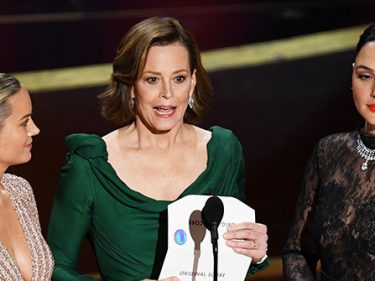 Watch — Sigourney Weaver at Oscars: 'All Women Are Superheroes'