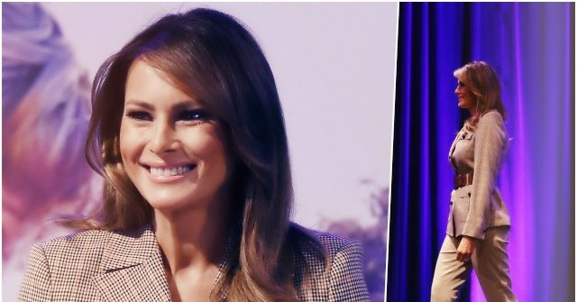 Fashion Notes: Melania Trump Mixes the Masculine, Feminine in Brooks Brothers