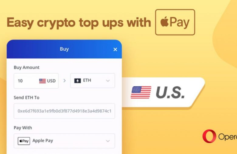 Opera now supports in-browser crypto purchases with Apple Pay