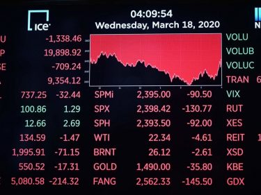 Dow Is Reeling as the World Plunges Toward a Coronavirus-Fueled Recession