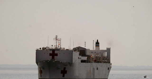 Coronavirus: Beachgoer Captures Inspirational Photo of USNS Comfort