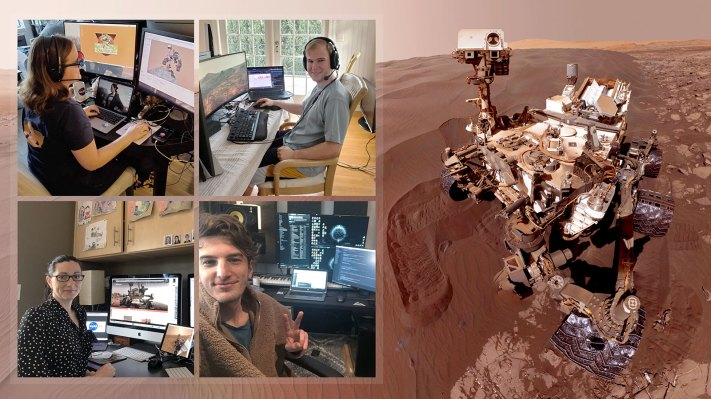 NASA's Curiosity team is operating the Mars rover from home