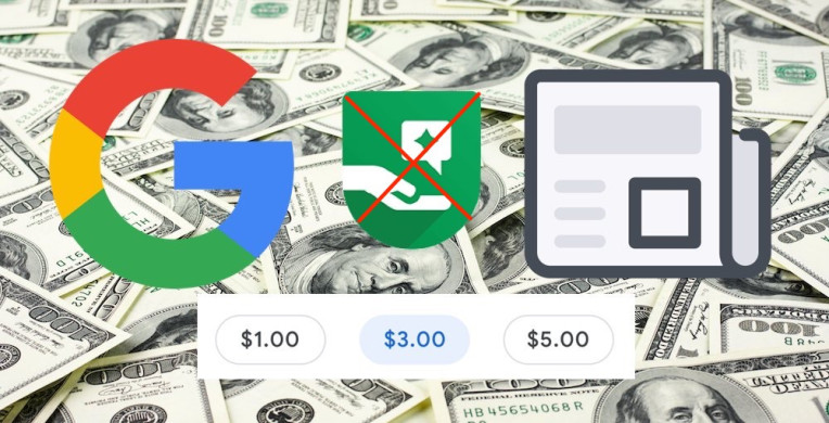 Google ditched tipping feature for donating money to sites