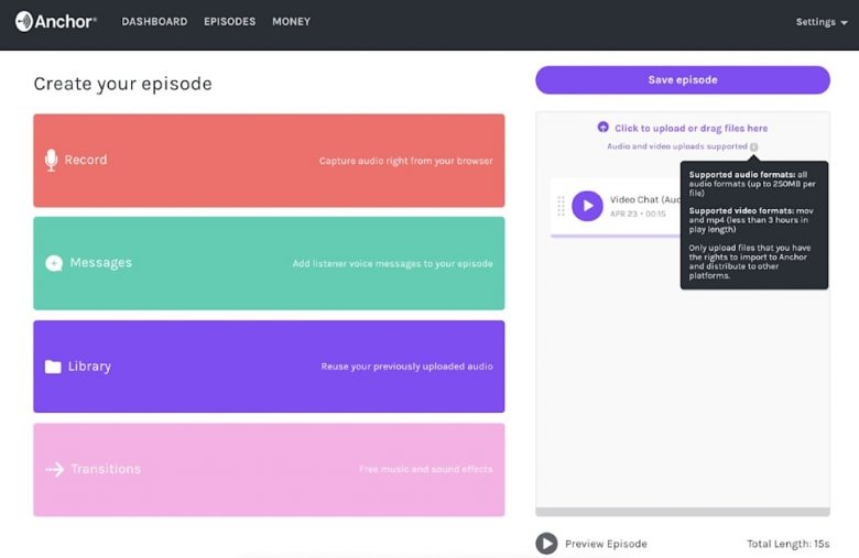 Anchor converts your video calls into podcasts