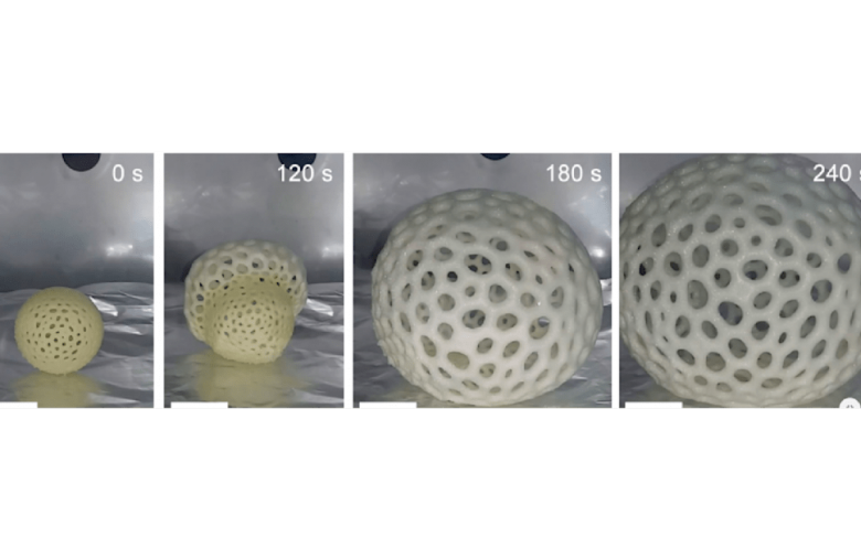 This 3D-printed foam expands up to 40 times its original size